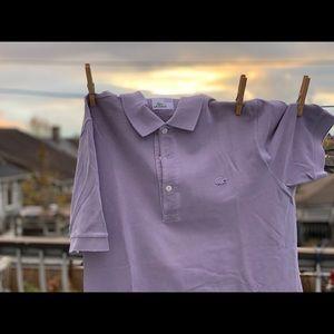 Unique Lacoste Vintage wash purple grey polo shirt